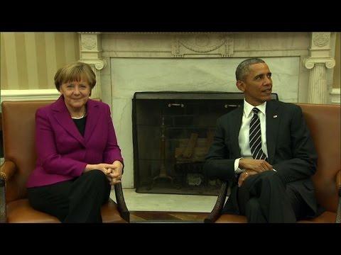 Ukraine: Obama et Merkel présentent un front uni