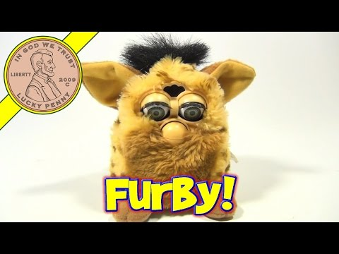 Furby Vintage Tan And Brown With Leopard Spots Animated Toy. 1999 Tiger Electronics