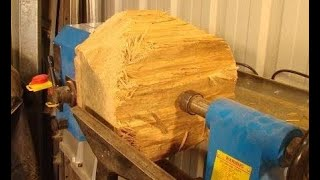 # Wood-turning a $93,000K bowl from a $0.50 oak log