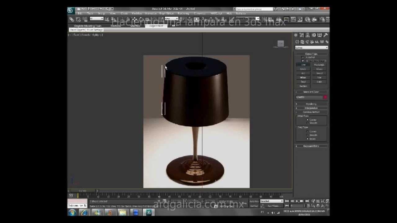 Tutorial modelando una lampara en 3d studio max youtube for Modelar habitacion 3d max