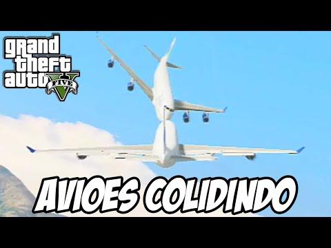 GTA V - Batendo um avião comercial no outro no ar e o caminhão de Pantos