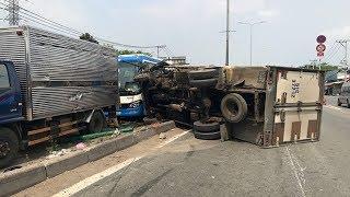 Tai nạn Lật xe tải trên quốc lộ 25B Myanma