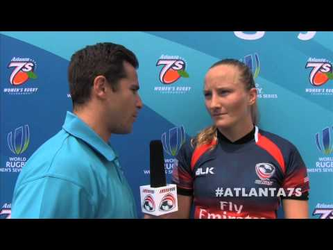 Eagle Kathryn Johnson post-game vs. Australia (Cup QF) - Atlanta 7s