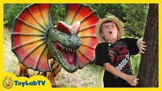 Giant Dinosaur Encounter & Jurassic Adventure with Kids Ride on ATV