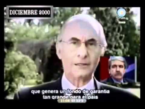 De la Rua sobre Blindaje del FMI en 2001