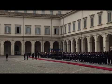 Singapore's national anthem rings out in the Palazzo Del Quirinale in Rome
