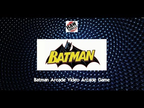 Batman Arcade Video Arcade Game - BOSA 2014 Silver Medal Winner - BMIGaming - Raw Thrills