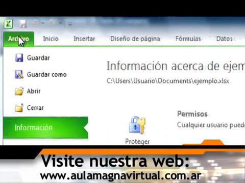 Curso Gratuito de Microsoft Excel 2010 Nivel Básico - Módulo 01 - Parte 02.