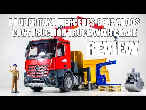 Bruder Toys MB Arocs Construction Truck with Crane Video Review.
