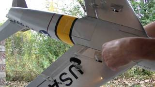 E-Flite F-86 Sabre Flap Installation Preview