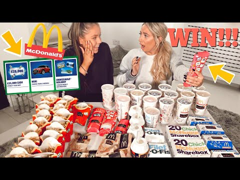 I WON on McDonald's monopoly?!😭 I Spent £150 on Mcdonalds To Try and win the £100,000 CASH PRIZE!😱
