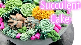 Buttercream Succulent Cake Decorating Tutorials - CAKE STYLE