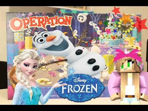 Minecraft Little Kelly Toys - PLAYING FROZEN OPERATION WITH LITTLE CARLY!