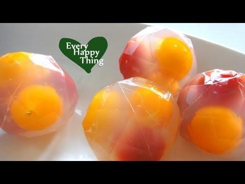 Sweet Tomatoes with Honey Lemon Jell-O はちみつレモントマトのゼリー Recipe/レシピ