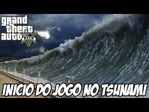 GTA V - Início do jogo com o TSUNAMI MOD LOS SANTOS INUNDADA INCRÍVEL