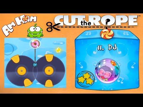Ам Ням Cut the Rope #11 DJ Коробка Прохождение Детское Видео Игровой Мультик Let's Play