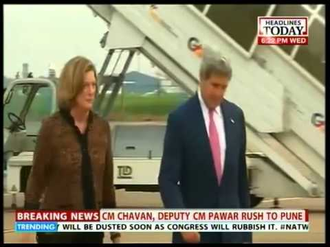 U.S Secreatary John Kerry arrived in the capital