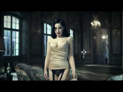 The New Perrier Mansion campaign starring Dita von Teese stripping