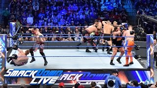 Download 10-Man Over the Top Rope Challenge — Winner Enters Royal Rumble Match: SmackDown LIVE, Jan. 24, 2017 3Gp Mp4