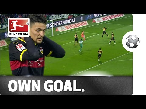 Bizarre Own Goal - Stuttgart's Federico Barba Lobs His Own Keeper
