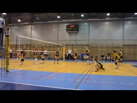 Siatkówka 2L: KS AGH Kraków -  TKS Tychy. 2016-10-01