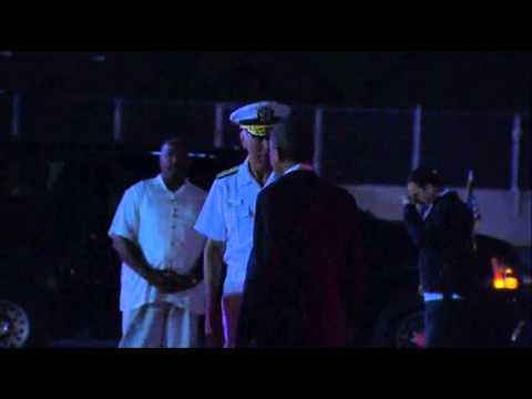 Raw: Obama Returns to Hawaii
