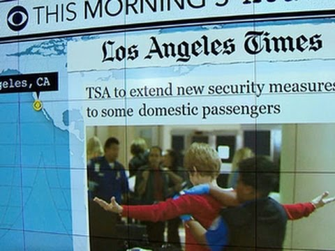 Headlines at 7:30: TSA expands new electronic rule to some domestic flights