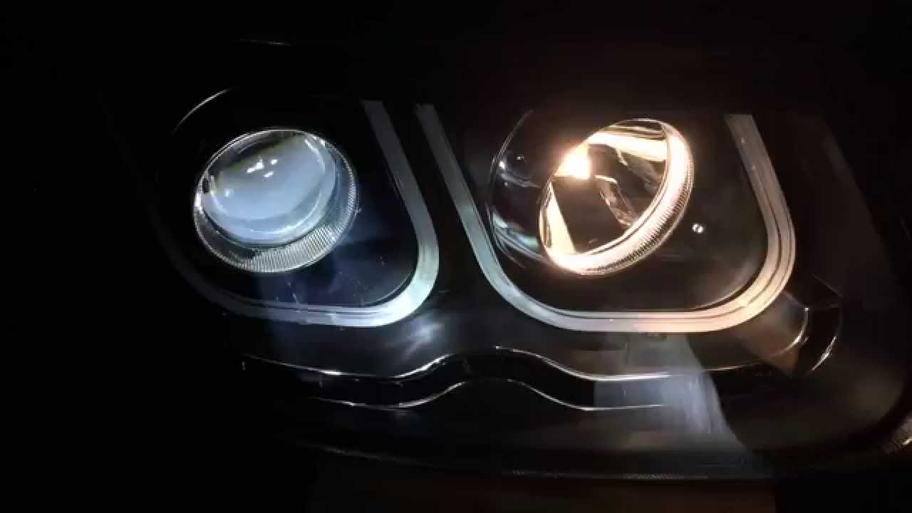 2006 2012 Hyundai Santa Fe Headlight With Led Angel Eye
