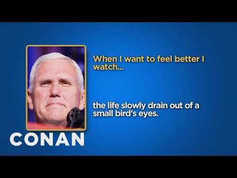 Celebrity Survey: Mike Pence, Donald Trump Edition  - CONAN on TBS