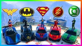 GTA ONLINE SUPERHEROES VS SUPERVILLIANS SPECIAL - BATMAN VS SUPERMAN, IRONMAN, SUICIDE SQUAD & MORE!