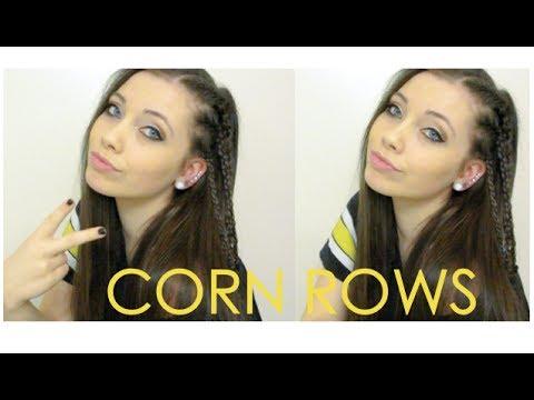 Side CORNROWS Hair Tutorial Mini French Braids YouTube