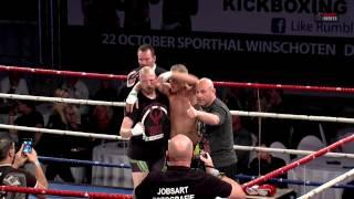 Danny Hogeling vs Arjan van der Meulen MMA klasse - Winschoten 22-10-2016