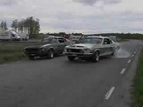 '68 Mustang Shelby GT 500 burnout Video