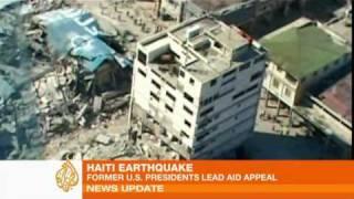 Former Us Presidents Lead Haiti Aid Appeal