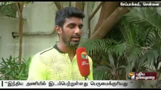 Chat with Prajnesh Gunneswaran, reserve player, Indian Davis Cup team
