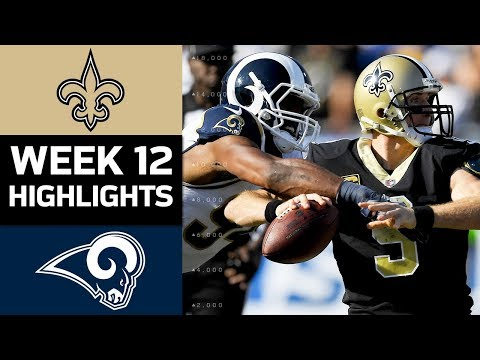 Saints vs. Rams | NFL Week 12 Game Highlights