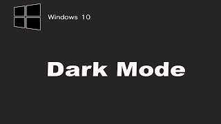 How to unable & Customise Dark Mode in Windows 10  (Officially )