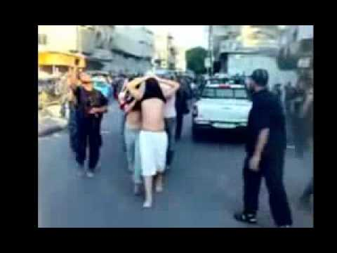 Hamas terrorists kill innocent Palestinian in Gaza (Rare Video) (Must See).FLV