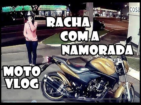 MotoVlog - Racha com a Namorada - CB 300