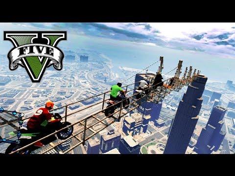 GTA V Online -EL PUENTE FLOTANTE DEL CIELO! - NexxuzHD
