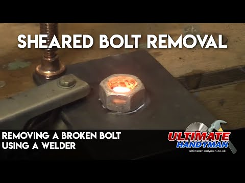 Removing a broken bolt using a welder