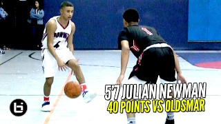 Julian Newman 40 POINTS vs D1 Bound PG!! 2OT Thriller vs LEGIT Varsity Squad Full Highlights!