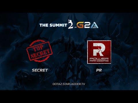 Team Secret vs PR The Summit 2 Day 15 Game 1