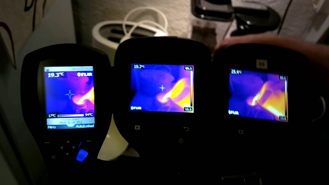 Flir i7 e4 and e8 side by side thermal camera test watch in hd youtube for Thermal watches