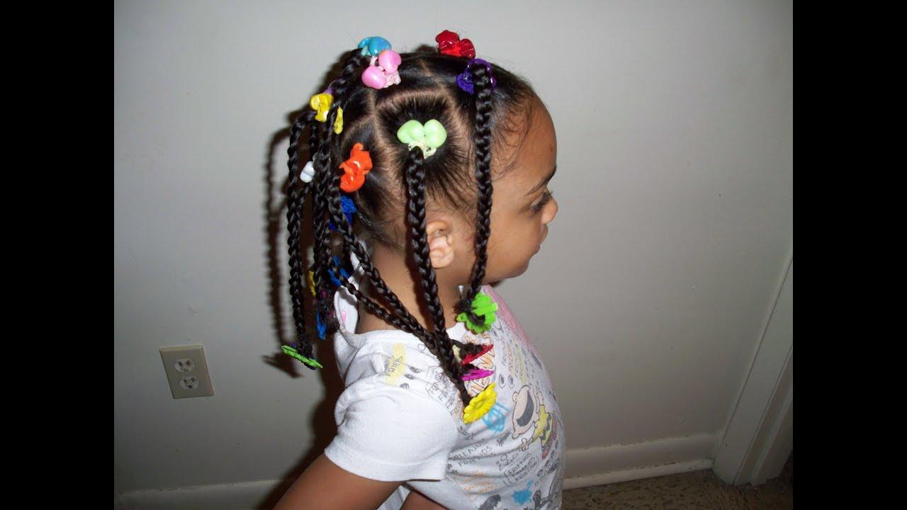 Lil Girl Hair Braiding Styles: Cute Kids Hairstyles (Braids, Ponytails