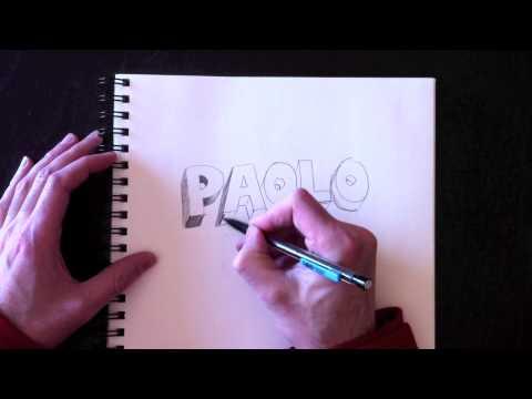comment dessiner des lettres 3d