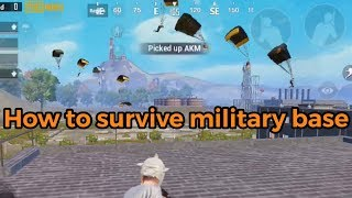 How to survive military base | PUBG Mobile