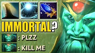Ability Draft Annoying Tank Combo [Reincarnation + Astral Imprisonment + Aghs] Kill ME | Dota 2