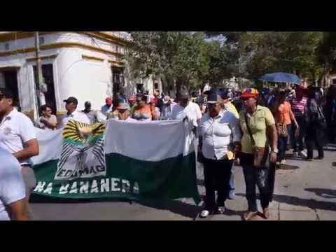 Marcha de docentes en #SantaMarta