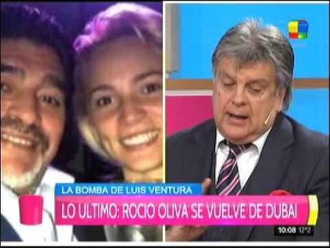 Maradona echó a Rocío Oliva de Dubai